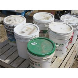 LOT OF PAINT (5 GALLON PAILS OF PAINT X 6)