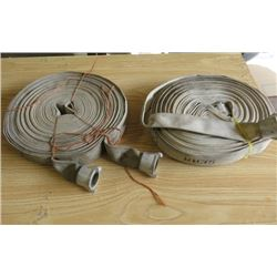 "LOT OF 2 FIREHOSES (1 1/2"" X 100')"