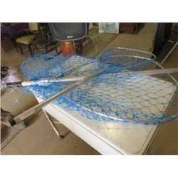 "LOT OF 3 FISHING NETS (40"" X 17' & 75"" X 27"")"