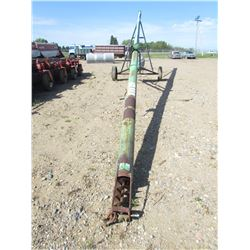 "44 FOOT GRAIN AUGER (8"" DIA) *NEW 5 HP MOTOR*"