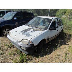 1991 Pontiac Firefly (white) SALVAGE