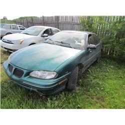 1998 Pontiac Grand AM (green) SALVAGE