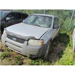 2002 Ford Escape (grey) SALVAGE