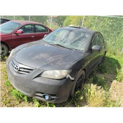 2005 Mazda 3 (blue) SALVAGE