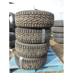 "LOT OF FOUR (4) PIRELLI 215-55-16 ""ICE ZERO"""