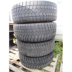 "LOT OF FOUR (4) GOODYEAR 265-70-17 ""ULTRAGRIP ICE"" W/ RIMS"