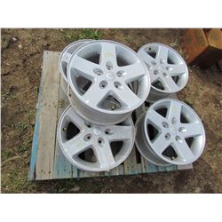 "LOT OF FIVE (5) JEEP RIMS - 18"" 5 BOLT W/ TPMS"