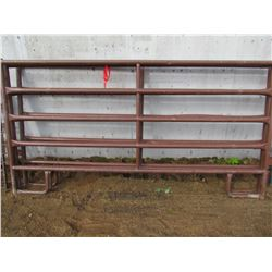 LOT OF THREE LIVESTOCK PANELS - 9'X5' (ROUND TUBE)