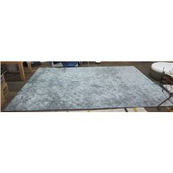 Large Grey & White Geometric Patterned Rug 15' x 12'