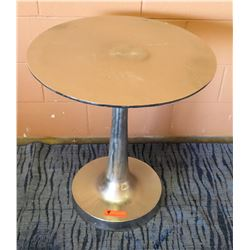 "Round Metal Side Table, 23"" Dia, 26""H"