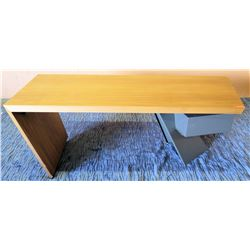 "Wood Top Desk w/ Abstract Drawers 84""L x 38.5""W x 30""H"