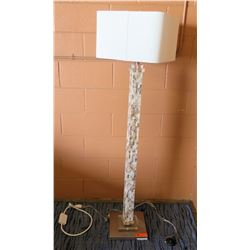 Tall Pillar Floor Lamp w/ Shade 5'H