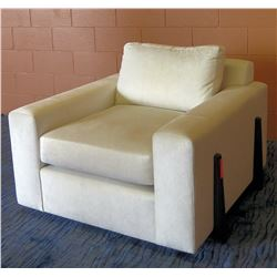 "Upholstered Cream Lounge Arm Chair 40""W x 43""D"