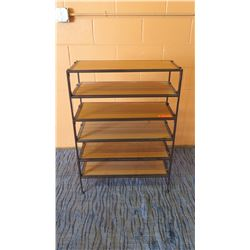 "5-Tier Modular Stacking Shelving Unit 26.5'L x 12""D x 37.5""H"