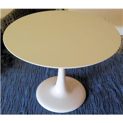 "White Cattelan Italia Round Pedestal Table, 39"" Dia, 30""H"
