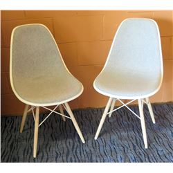 Qty 2 Eames Upholstered Chairs