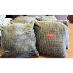 Qty 6 Matching Green Throw Pillows