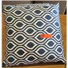 Qty 2 Blue Decorative Throw Pillows (Blue/White)