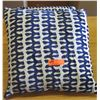 Qty 2 Blue Decorative Throw Pillows (White & Blue)