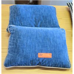 Qty 2 Matching Blue Throw Pillows