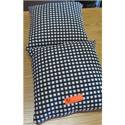 Qty 2 Matching Check Patterned Throw Pillows