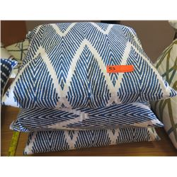 Qty 3 Matching Blue & White Throw Pillows, Pacific Home