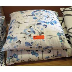 Qty 2 Matching Floral Print Throw Pillows