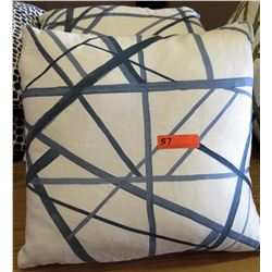 Qty 3 Matching Throw Pillows (Blue Abstract Lines)