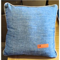 Qty 2 Matching Blue Throw Pillows
