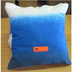 Qty 2 Matching Blue Ombre Throw Pillows