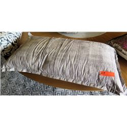 Large Grey Rectangle Throw Pillow