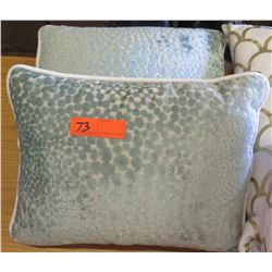 Qty 2 Matching Dusk Blue Throw Pillows