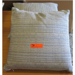Qty 2 Matching Woven Multi-Hued Pillows