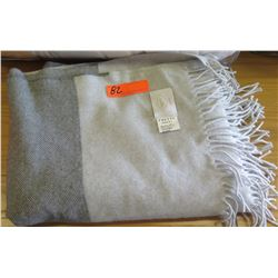 Frette Grey Luxury Wool & Cashmere Throw