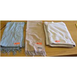 Sferra Cashmere Blanket, Vera Wang Blanket, & Blue Cashmere Blanket