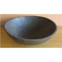 Calvin Klein Dark Wooden Bowl, 20.5 Dia.