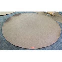 Large Circular Woven Rug, 96  Dia.