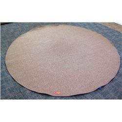 """Large Circular Woven Rug, 96"""" Dia."""