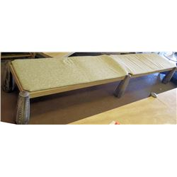 "Long Bench, Natural Stone 129""L x 24""W x 18""H"