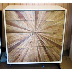 """4-Drawer Vanishing Point Wooden Dresser 35""""W x 18""""D x 40""""H"""
