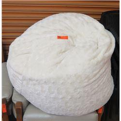 Soft White Bean Bag Chair (Pier 1 Imports)