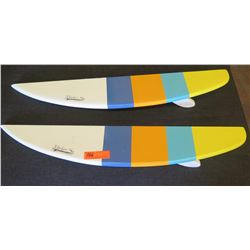 "Qty 2 Half-Board Decorative Surfboard Shelving 36""L"