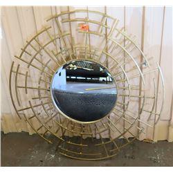 "Circular Geometric Mirror 42""H"