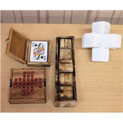 Large Wooden Dice, Playing Card Holder, Wooden Game Board, etc.