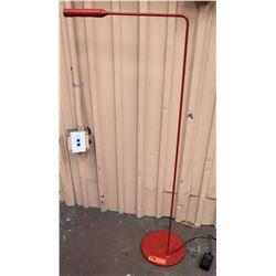 "Red Minimalist Metal Floor Lamp, 44""H"