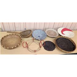Misc. Woven Baskets, Trays & Placemats
