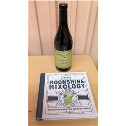 Moonshine Mixology Recipe Book & Renato Ratti Marcenasco (empty bottle)