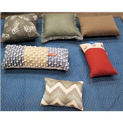 Qty 6 Misc. Accent Pillows