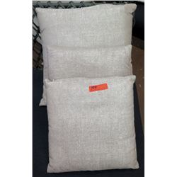 Qty 3 Light Grey Throw Pillows