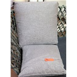Qty 2 Grey Throw Pillows